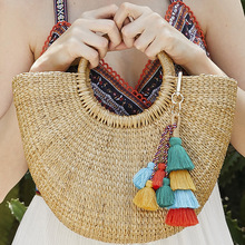 Hot Sale Vintage Boho KeyChain Multilayer Tassel Pendant Women Bag Hanging Ornament Woven Keychain Accessories Wholesale