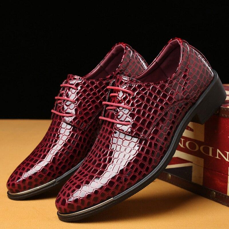 da6f307b786a À L usure En Peau Hommes Bout Cuir black Résistant Red Formelle 38 La  Taille Chaussures ...