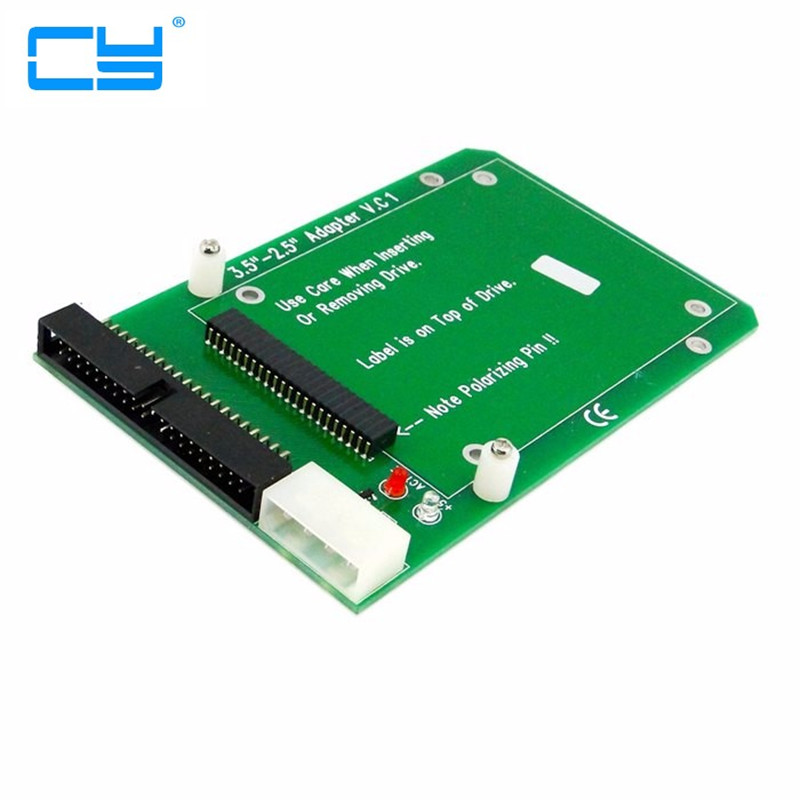 Laptop 44pin 2.5 IDE to 40pin PC 3.5 IDE Adapter Adaptor PCBA for Hard Disk Drive sd memory card to ide 44 pin hard disk adapter creates a ssd solid state drive