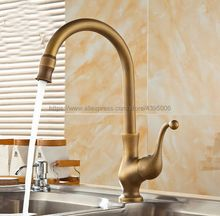 Kitchen Faucet Antique Brass Kitchen Sinks Faucet 360 Degree Rotating Swivel Cold Hot Mixer Water Tap Ban056 antique color drinking water faucet water filter purifier kitchen faucet hot cold mixer basin tap 360 swivel kitchen faucet
