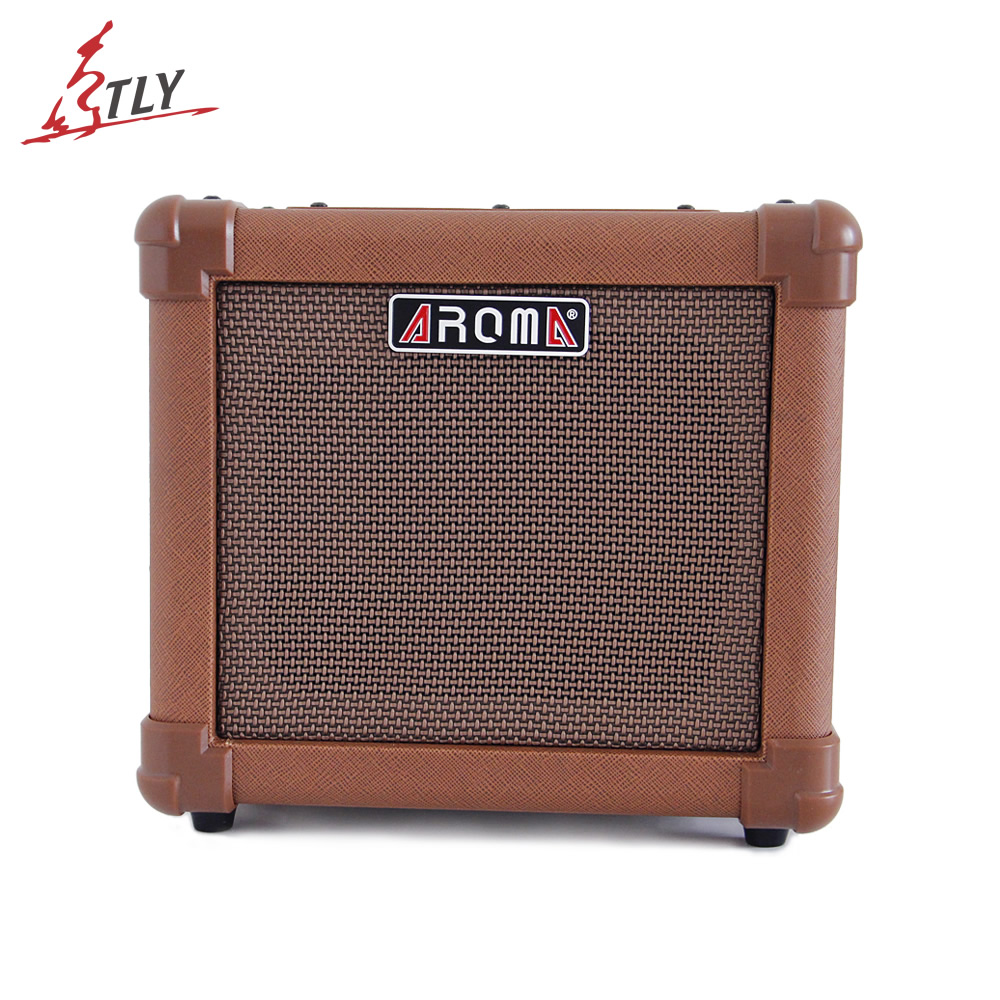 Aroma AG-10A Acoustic Guitar AMP Audio Amplifier Loudspeaker Box with Gauge Audio Cable Hand Strap and Shoulder Strap