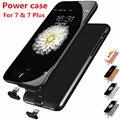 7 Тонкий Корпус Батареи Ультра Тонкий Smart Power Банк Чехол Для iPhone 7 Power Plus Дело Роскошный Черный Розовое Золото Покрытие для iPhone7 Плюс