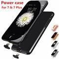 7 caixa de bateria banco de potência ultra slim fina inteligente case para iphone 7 Power Plus Caso De Luxo Preto Ouro Rosa Capa para iPhone7 Plus