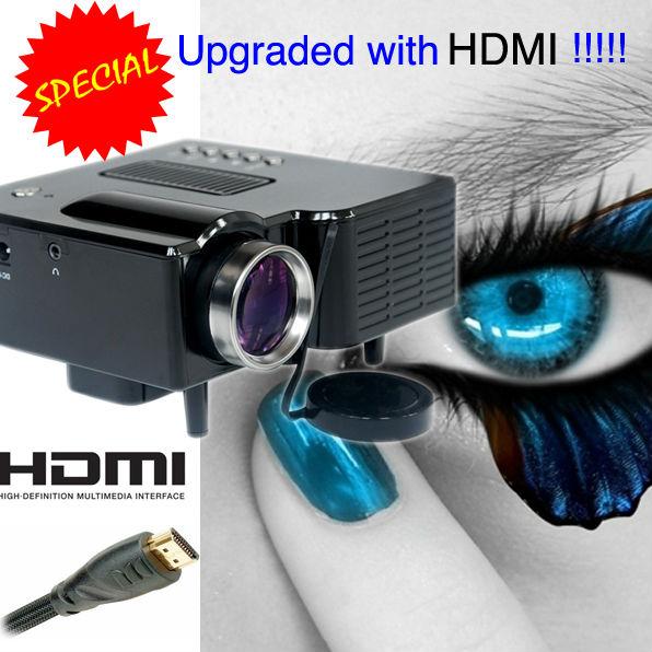 Prix pour Portable LED Mini Projecteur Le Plus Bas Coût Avec HDMI USB VGA SD pour La Maison Utilisée Jeu Beamer Travail Avec iPhone iPad Android Téléphone
