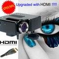 Portable Mini Proyector LED Más Bajo Costo Con HDMI USB VGA SD para el hogar utiliza proyector de juegos trabajar con iphone ipad android teléfono