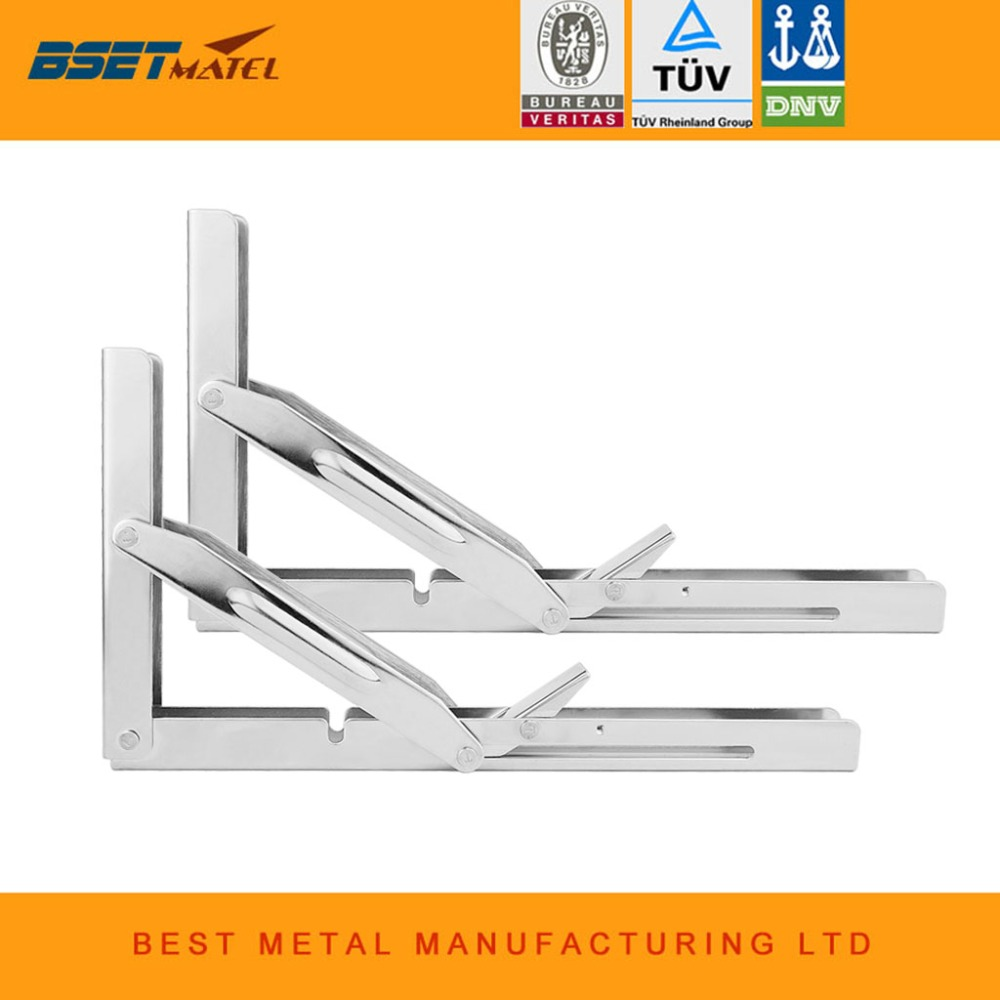 1 Pair 550lbs Stainless Steel 304 Folding Shelf Bench Table Bracket Triangular support wall mounted DIY Home Boat  Marine1 Pair 550lbs Stainless Steel 304 Folding Shelf Bench Table Bracket Triangular support wall mounted DIY Home Boat  Marine