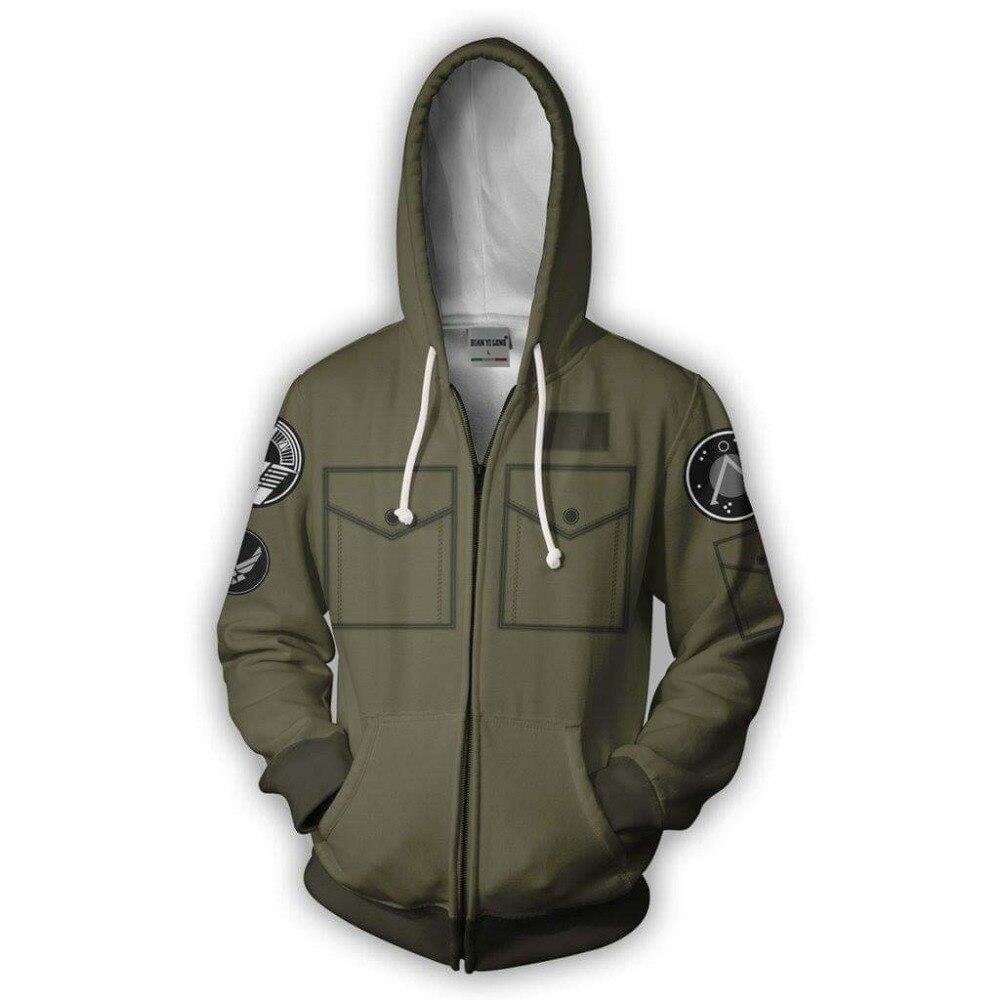 BIANYILONG 2019 new Zip Hoodie man Stargate3D printed hoodies tracksuit Casual zipper hoody hip hop tops