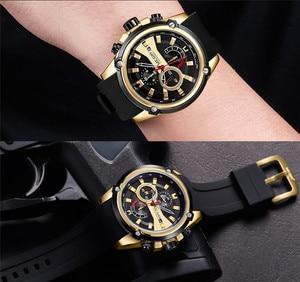 Image 3 - レロジオ masculino MEGIR メンズ腕時計トップブランドの高級クロノグラフ防水スポーツ男性時計ゴム腕時計 2086