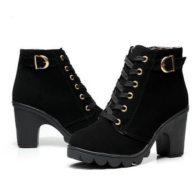 bd0dc36f3 Zapatos de mujer de invierno 2016 Mujeres Short Tobillo Australiano Ugs  Botas Lady Chaussure Femme tacones