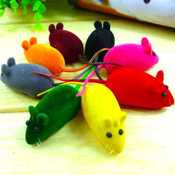 Cute False Mouse Squeak Noise Sound Funny Rat Playing Toy For Cat Kitten Pet Play Funny Multi Color