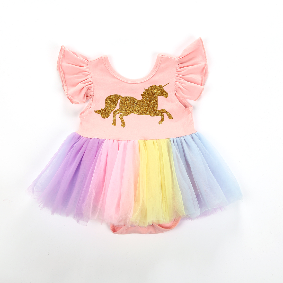 Baby Girls Halter Bodysuit Tulle Skirts,Sequins with Cute Animal Fruit Romper Tutu Dress Sunsuit Outfits