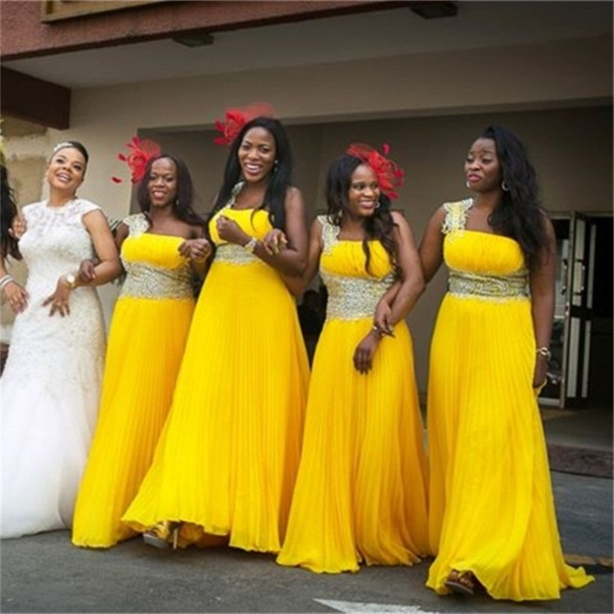 Plus size yellow bridesmaid dresses long bridesmaid dresses plus size yellow bridesmaid dresses long bridesmaid dresses wedding party dresses sexy chiffon adult prom dresses 160524014 in bridesmaid dresses from ombrellifo Images