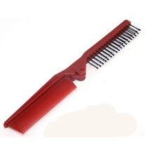 Про салон джейд-статический расчесывать складной парикмахерскими щетка для волос путешествия комплект гребень подарок