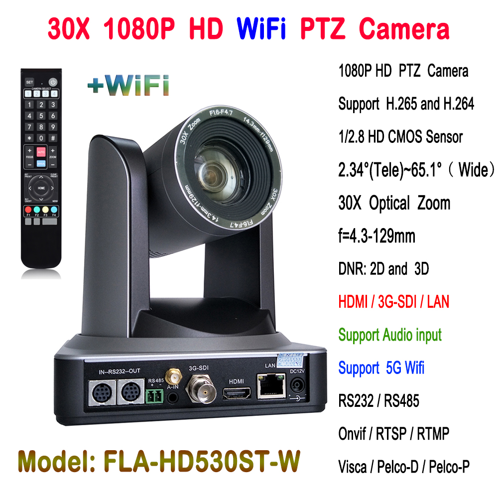 30x zoom Óptico HDMI 3G-SDI Vídeo Conferência HD PTZ Câmera IP Sem Fio para o sistema de Conferência Web China fornecedor