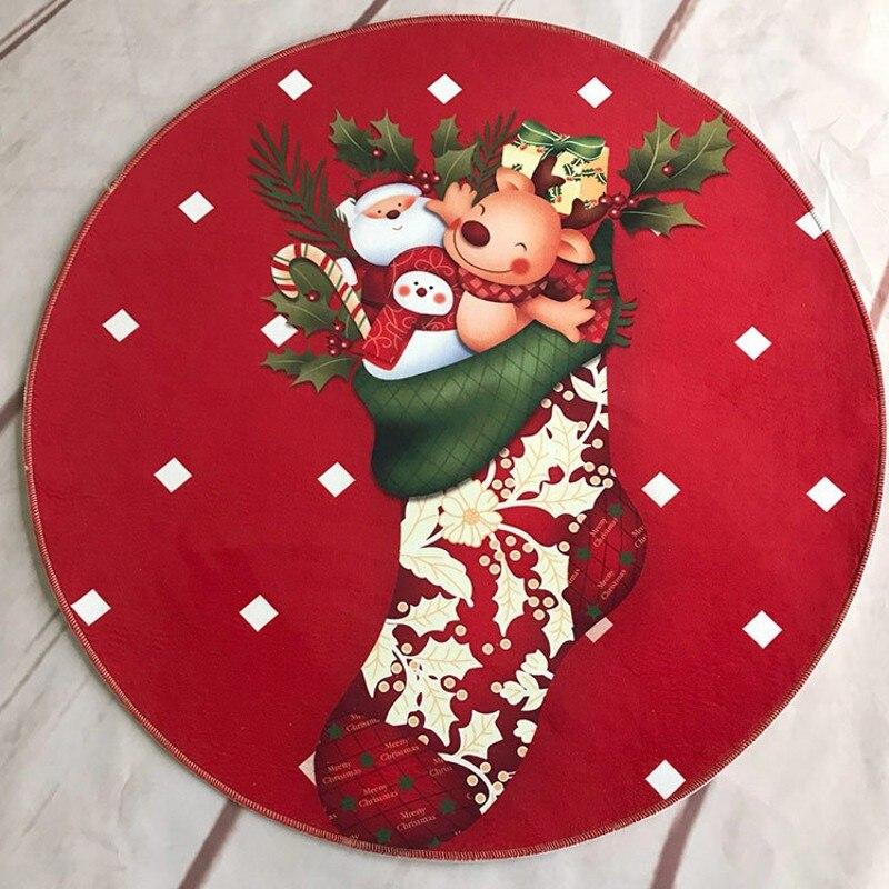 Round Rug Christmas Gift Kids Round Carpet Christmas