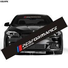 1 шт. новая наклейка на лобовое стекло автомобиля M performance для BMW E30 E36 E60 E46 E90 E71 E87 F30 F10 F20 X1 X3 X4 X5 X6