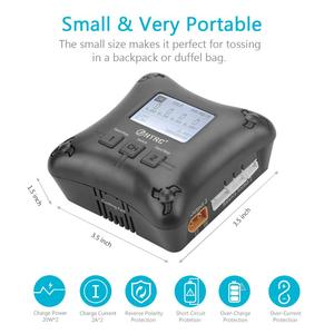 Image 5 - HTRC H4AC DUO 20W x2 2A x2 Mini Portable RC Charger 2 4s Lipo Battery Charging Dual Port
