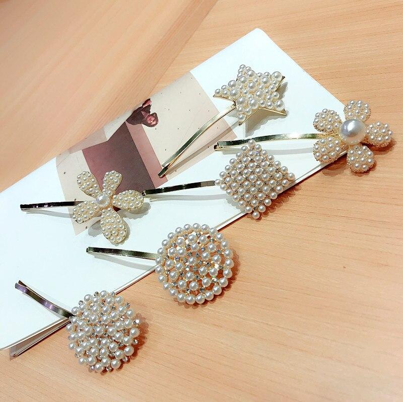 Korea Hair Accessories Flower Diamond Full Pearl Hair Clips For Girls Crystal Hair Accessories Hair Bows Hairpins Barrette in Women 39 s Hair Accessories from Apparel Accessories