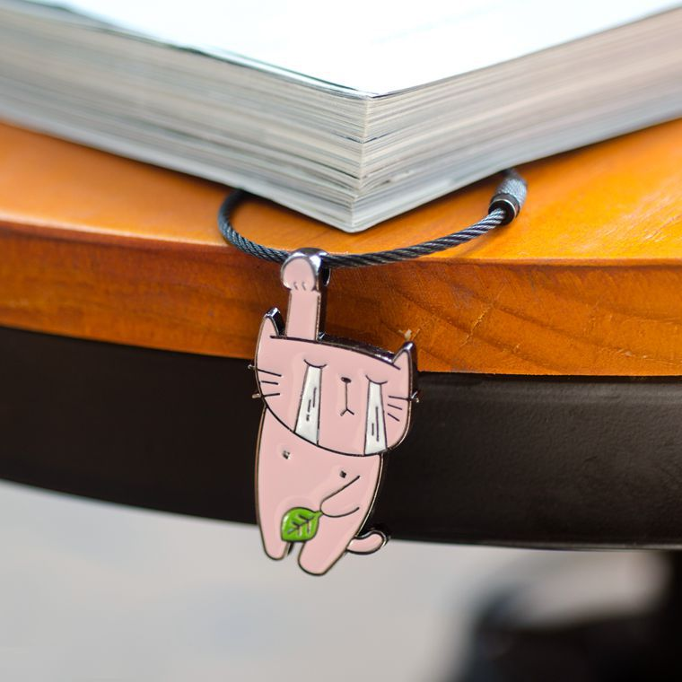 Hanging Animal Wire Key Ring 6 Novelty Metal Keychains Luggage Tag Loops ID Tag Keepers Cable Key Rings String Twist Barrel