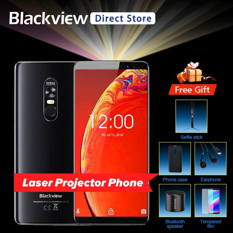 Blackview Max 1 Projector Telefoon 6.01 Inch 6 Gb 64 Gb 4680 Mah Android 8.1 Nfc Mini Projector Draagbare Home Theater 18:9 Smartphone Aangenaam Voor Het Gehemelte