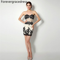 Forevergracedress Sexy Short Prom Dress With Detachable Train Crystals Backless Formal Party Gown Plus Size Custom Made