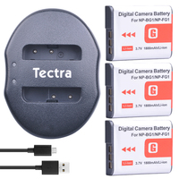 Tectra 3pcs NP BG1 NP BG1 1800mAh/Li ion battery + USB Dual Charger for Sony DSC W30 DSC W300 DSC W35 DSC W50