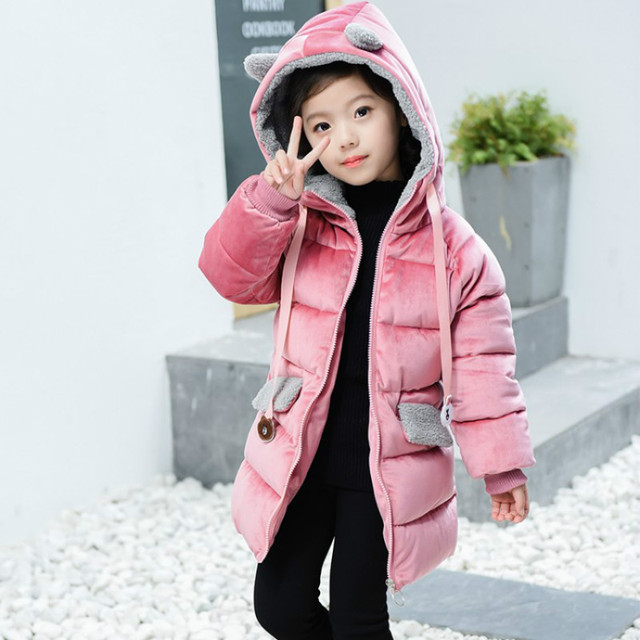 96c7d1a775dc 2018 New Girls  Suede Cotton Coats Winter Long Coat Female Korean ...