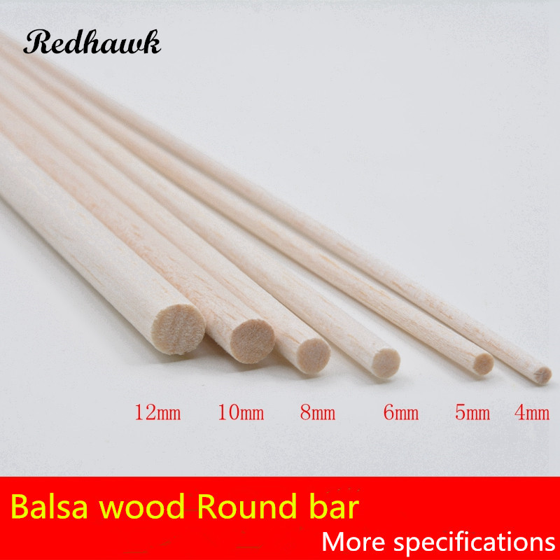 300mm long diameter of D4/D5/D6/D8/D10/D12/D15mm AAA+ Balsa Wood Roud Dowels Sticks  for airplane/boat model DIY free shipping d