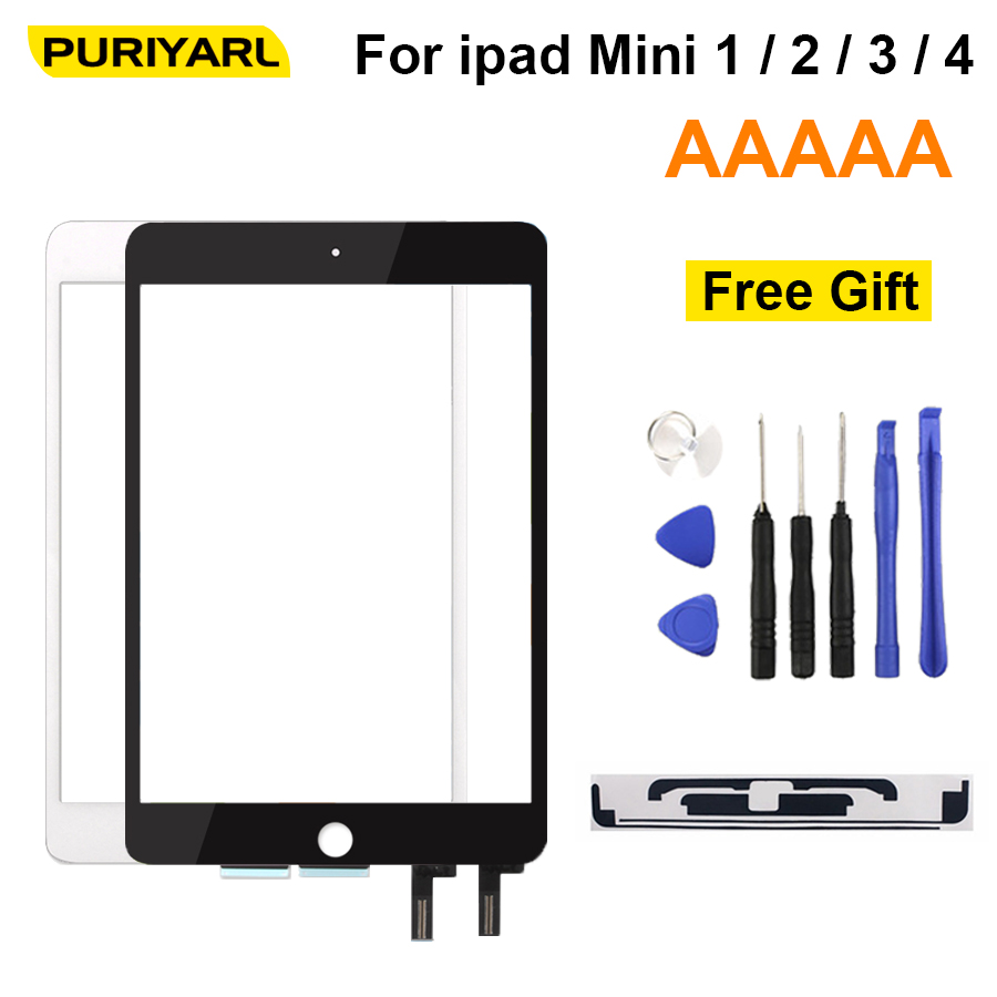 A+++ Touch Screen For IPad Mini 1 2 3 4 Mini1 Mini2 Mini3 Touch Digitizer Glass No Home Button IC For IPad Mini4 Sensor Parts