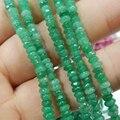 Natural Pedra de Jaspe Jade Abacus Jaspers 2x4mm Facetada Esferas Ábaco Rondelle Calcedônia Contas Loose Fazer jóias 15 inch GE302