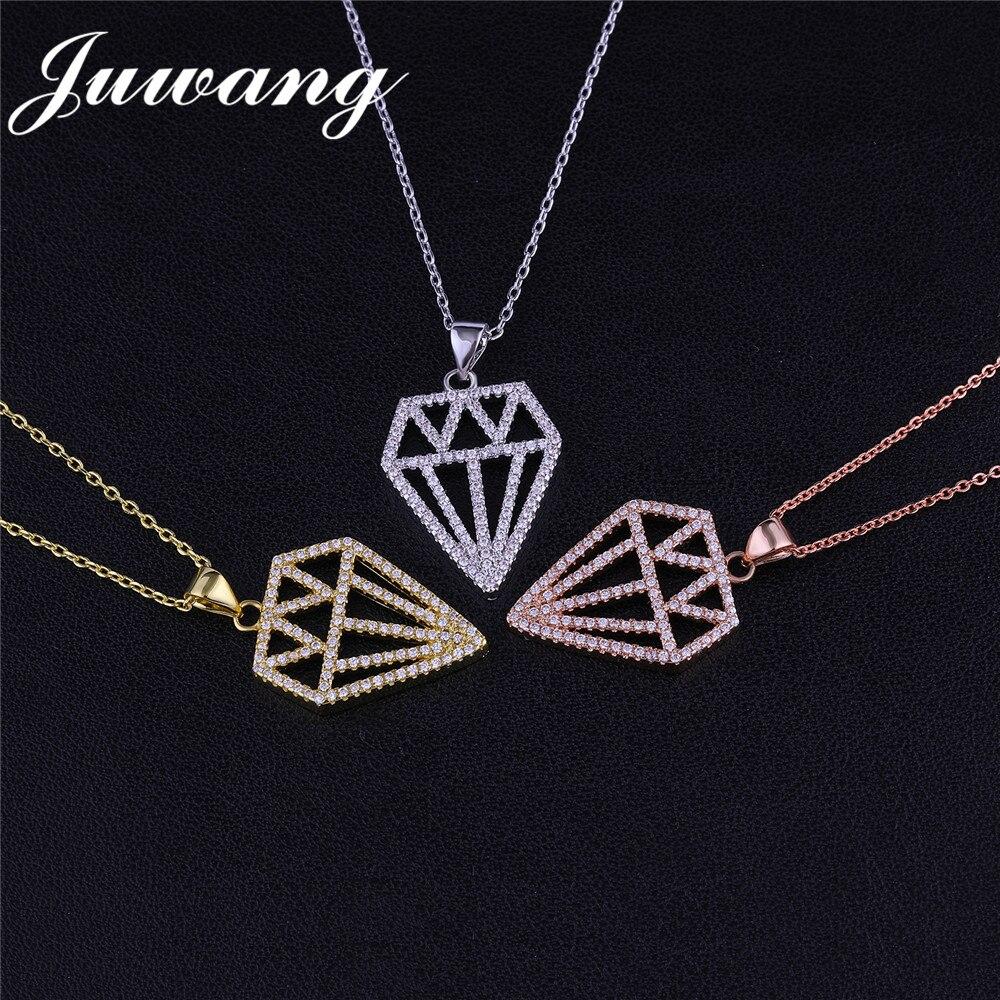 Pendentif colliers or couleur chaîne de luxe bijoux cadeau en gros 2