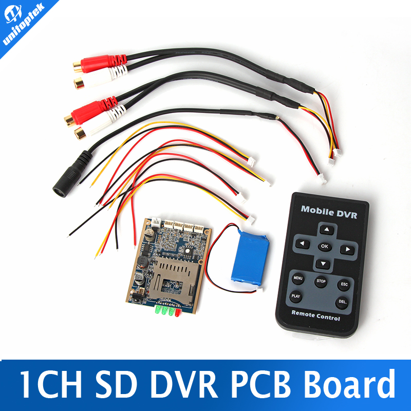 ФОТО Real time 1CH Mini HD XBOX DVR PCB Board Up D1 30FPS Support 32GB SD Card Security Digital For Model Aircraft Recorder + Battery