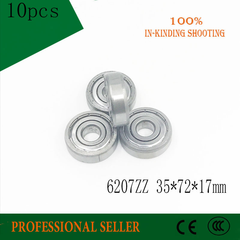 35mm x 72mm x 17mm Metal Sealed Deep Groove Ball Bearing 6207ZZ 10pcs 5 pcs double sealed 3 x 7 x 3mm deep groove ball bearings page 4