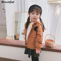 100% Cotton Baby Boys Girls Coat Lovely Antlers Hooded Autumn Winter Kids Jacket Long Sleeve Infant Outwear Children Clothes