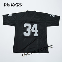 Retro star #34 Bo Jackson Embroidered Throwback Football Jersey