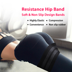 Resistance Hip Band Soft & Non Slip Rubber Band Highly Elastic Compression Booty Band GYM Hips Exercise Circle Loop Thigh Band
