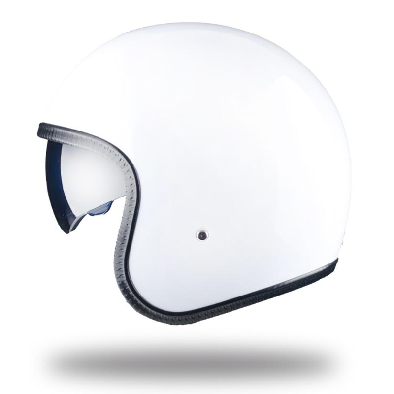 LDMET moto rcycle casque jet open face casque avec lentille cascos para moto vintage harley pilote café racer etro croisière