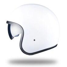 LDMET moto rcycle casco jet aperto del fronte del casco con lente cascos para moto vintage harley pilota cafe racer etro di crociera