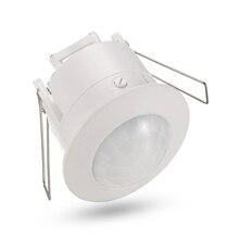 Высокое качество 360 градусов Потолочный 110 V/AC 220 V/AC инкрустация датчика переключатель Инфракрасный датчик движения из PIR светильник переключатель лампы