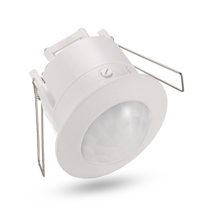 Alta qualidade de teto de 360 graus 110 V/AC 220 V/AC inlay interruptor do sensor infravermelho PIR motion sensor interruptor da luz de luz