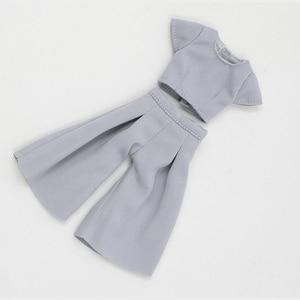 Image 5 - DBS lalki blyth icy różowy garnitur szary garnitur spodnie ubrania