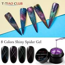 Гель-лак для ногтей T-TIAO CLUB Spider, креативный Гель-лак для рисования проволокой, лак для ногтей