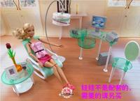 Trasporto Libero Netto salone Del Computer Salotto Set Ragazza di compleanno Gioco gift Set ragazza giocattoli casa di bambola Mobili per barbie bambola