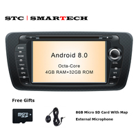 SMARTECH 2 Din Car Radio GPS Android 8 0 Octa Core 4GB RAM 32GB ROM Car