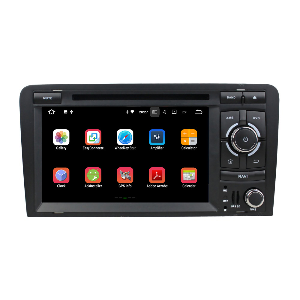 KLYDE 7 2 Din Android 8.1 Car Radio For Audi A3 2006 2013 Multimedia Player Stereo Audio DVD Player
