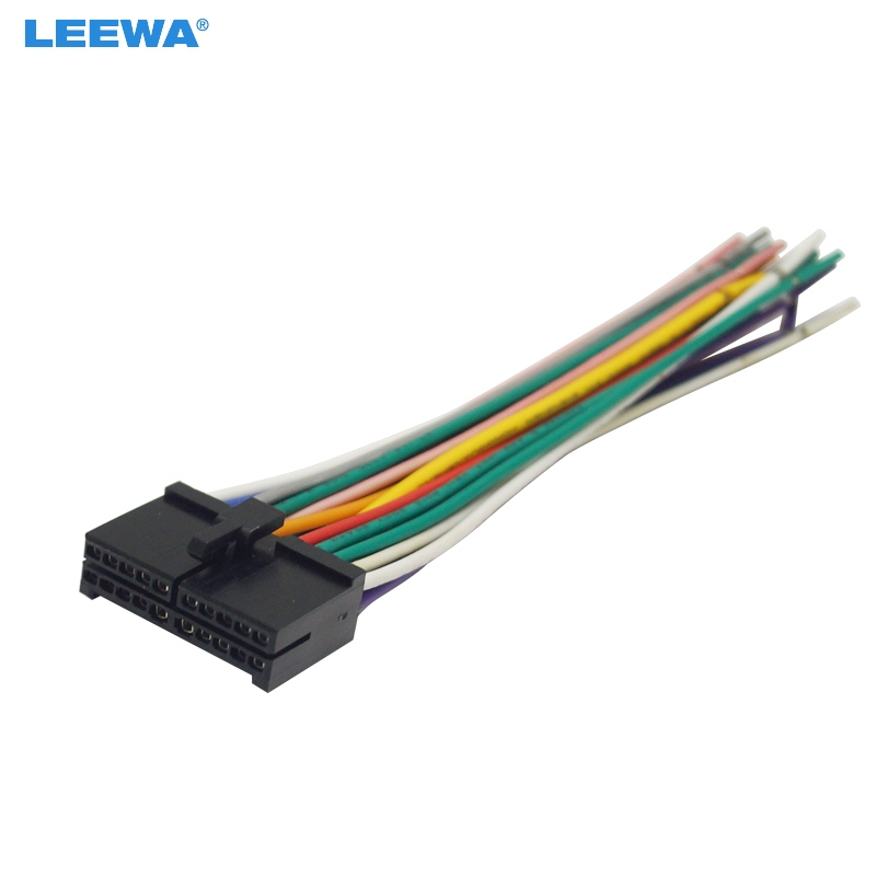 LEEWA 20Pin Universal Aftermarket Car Head Unit DVD Stereo Radio Wiring  Harness Cable Plug #CA2326|Cables, Adapters & Sockets| - AliExpress | Pyle Plbt72g Wiring Harness |  | Alie express