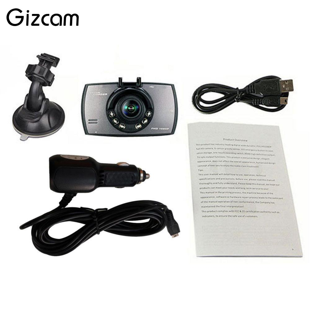 Gizcam 720P 2.7 Car DVR Vehicle Video Camera Crash Cam G-Sensor Night Vision Camcorder