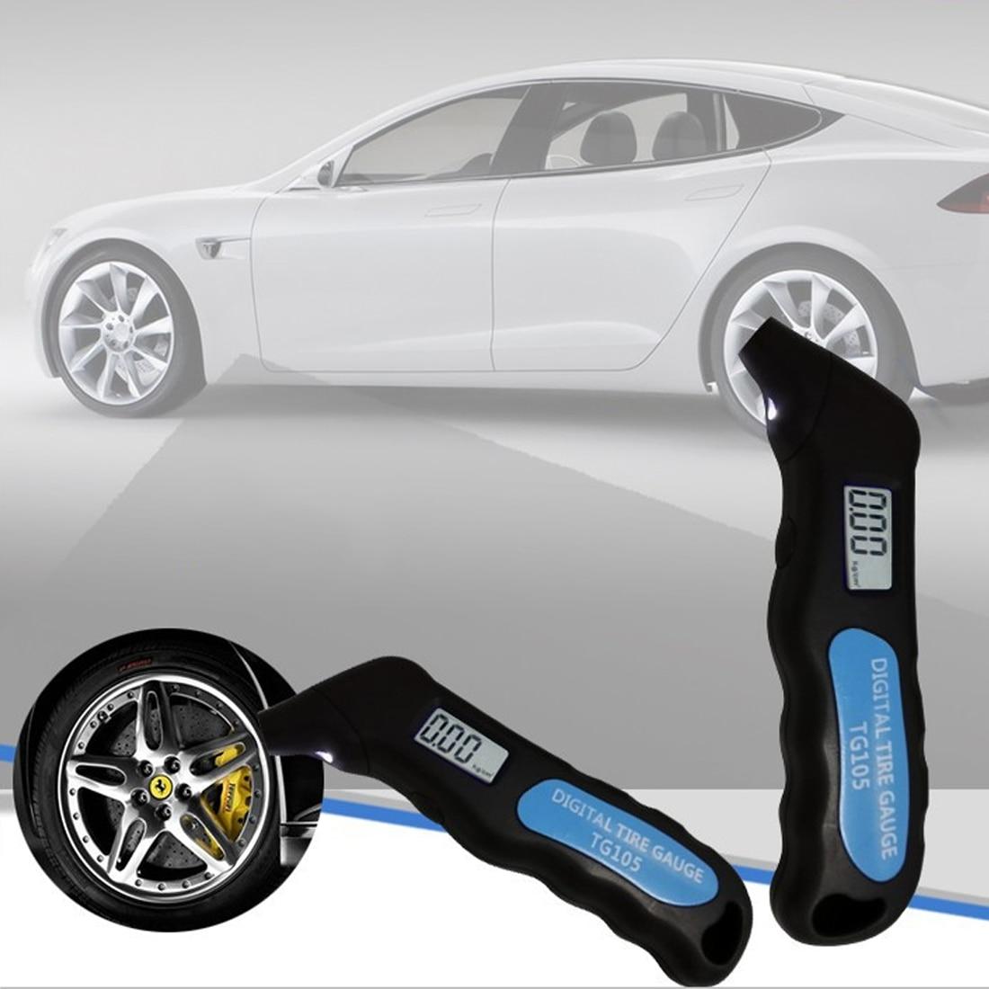 Цифровой автомобильный шиномонтажный ЖК-дисплей манометр барометр тестер для автомобиля Грузовой автомобиль, мотоцикл, велосипед