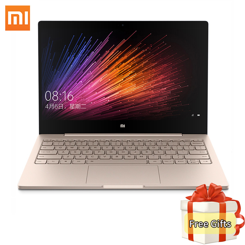 Original Xiaomi Mi Notebook Air 12.5 Inch Intel Core M3-6Y30 CPU 4GB RAM 128GB ROM SATA SSD Laptop Dual Core Windows10 Netbook