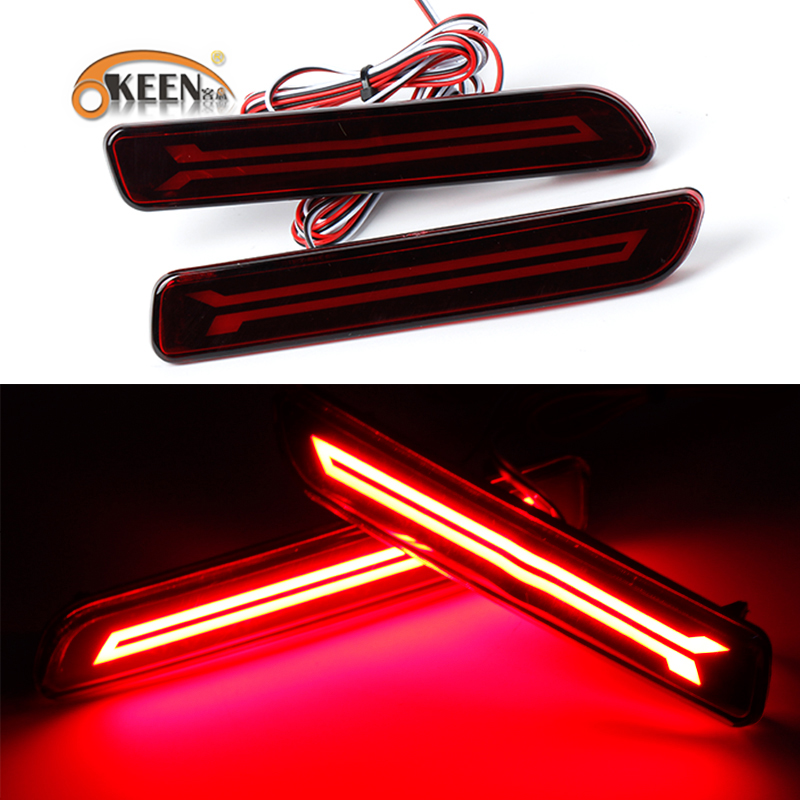 OKEEN For <font><b>Suzuki</b></font> <font><b>SX4</b></font> <font><b>2012</b></font> - 2017 Multi-function Car LED Tail Light Rear Fog Lamp Bumper Light Auto Brake Light Reflector 12V image